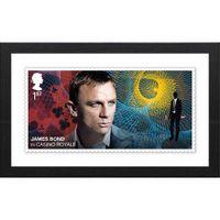 The James Bond Framed Casino Royale Stamp Print