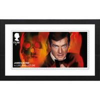 View more details about The James Bond Framed Live and Let Die Stamp Print