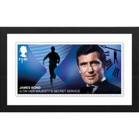 View more details about The James Bond Framed On Her Majesty's Secret Service Stamp Print
