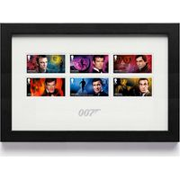 The James Bond Framed Stamp Set