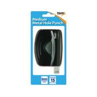 Tiger Black Medium Metal 2 Hole Punch, Pack of 6 - 301517