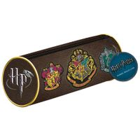 Harry Potter Hogwarts Crests Barrel Pencil Case - SR72357