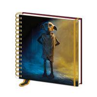 Harry Potter Square Dobby Wirebound Notebook - SR72567