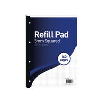 View more details about Hamelin 5mm Squared A4 Paper Refill Pad, Pack of 5 - 400127678