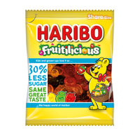 View more details about Haribo 140g Fruitilicious Bags, Pack of 12 - 46077