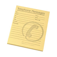 View more details about Challenge Yellow Telephone Message Pads,102 x 127mm - Pack of 10 - F71971