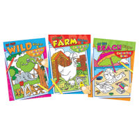 Tallon Colouring And Sticker Books, Pack of 12 - 4042