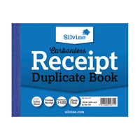 Silvine Carbonless Receipt Duplicate Book, 100 Pages (Pack of 12) - 720-T