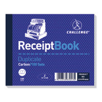 Challenge Carbon Duplicate Receipt Book, 100 Slips - Pack of 5 - D63053