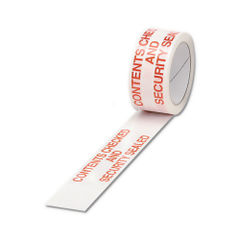 View more details about 50mm x 66m Contents Checked Poly Parcel Tape, Pack of 6 - PPPS-SECURITY