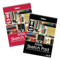 View more details about Tallon Artist Sketch Pad 20 Sheet A3 (Pack of 6) TAL05683