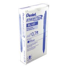 View more details about Pentel EnerGel X Retractable Gel Pen Medium Blue (Pack of 12) BL107/14-C