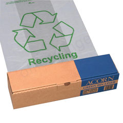 View more details about Acorn Clear Printed Recycling Green Bin Liners, Pack of 50 - 402573