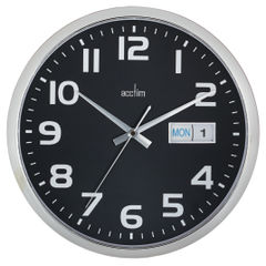 View more details about Acctim Supervisor Wall Clock 320mm Chrome/Black 21023