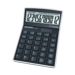 View more details about Aurora Black 12-Digit Semi-Desktop Calculator - DT910P