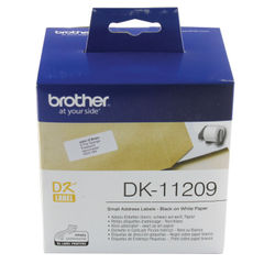 View more details about Brother Black on White Paper Small Address Labels (Pack of 800) DK11209