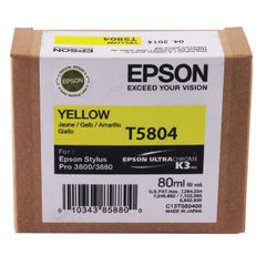 View more details about Epson T5804 Yellow Inkjet Cartridge C13T580400 / T5804
