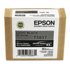View more details about Epson T5807 Light Black Inkjet Cartridge C13T580700 / T5807