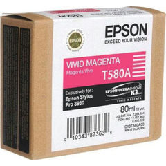 View more details about Epson T580A00 Magenta Inkjet Cartridge C13T580A00 / T580A00