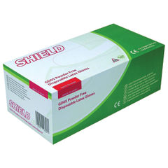 View more details about Shield Large Natural Powder-Free Latex Gloves, Pack of 100 - GD05