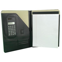 View more details about Monolith Executive Leather Conference Folder With A4 Pad A4 Black 2925