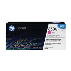 View more details about HP 650A Magenta Toner Cartridge - CE273A
