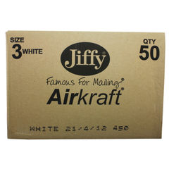 View more details about Jiffy Airkraft White Size 3 Mailers (Pack of 50) - JL-3