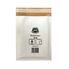 View more details about Jiffy Mailmiser Size 3 220x320mm White MM-3 (Pack of 50) JMM-WH-3