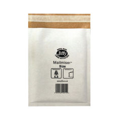View more details about Jiffy Mailmiser Size 0 140x195mm White MM-0 (Pack of 10) JFMM0 2219