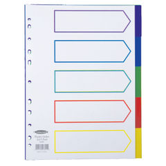 View more details about Concord Divider 5-Part A4 Polypropylene Multicoloured 06801
