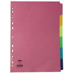 View more details about Concord Divider 6-Part A4 160gsm Bright Assorted 50799