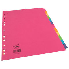 View more details about Concord Divider 12-Part A4 160gsm Bright Assorted 50999