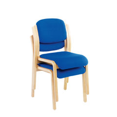 View more details about Jemini Blue Wood Frame Side Chair
