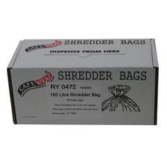 View more details about Safewrap Shredder Bag 150 Litre (Pack of 50) RY0472