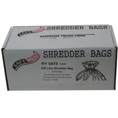 View more details about Safewrap Shredder Bag 200 Litre (Pack of 50) RY0473