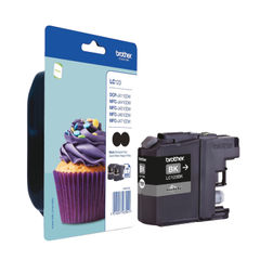 View more details about Brother LC-123 Black Inkjet Cartridge (Pack of 2) LC123BKBP2