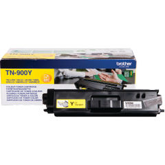 View more details about Brother TN900Y Extra High Capacity Yellow Toner Cartridge - TN900Y