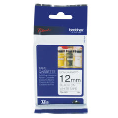 View more details about Brother P-Touch TZN Labelling Tape 12mm Black on White TZN231