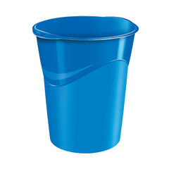 View more details about CEP Pro Blue Gloss Waste Bin - 280G BLUE