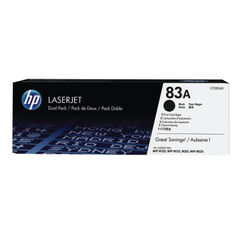 View more details about HP 83A Black Toner Cartridge Twin Pack - CF283AD