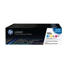 View more details about HP 125A Cyan/Yellow/Magenta Laserjet Toner Cartridges (Pack of 3) CF373AM