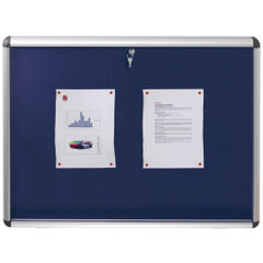 View more details about Nobo Internal Display Case A1 Blue Felt 745x1025mm 1902048