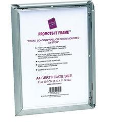 View more details about TPAC Photo Promote It Frame A2 Aluminium (Non-glass break-resistant cover) PAPFA2B
