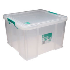 View more details about StoreStack 48 Litre Storage Box W490xD440xH320mm Clear RB90125