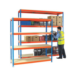 View more details about W1500 x D600mm Orange/Zinc Heavy Duty Painted Additional Shelf - 378853