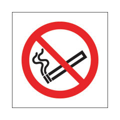 View more details about No Smoking 100 x 100mm Symbol Self-Adhesive Safety Signs, Pack of 5 - KP01N/S