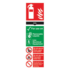 View more details about Fire Extinguisher Carbon Dioxide 300 x 100mm PVC Safety Sign - F103/R