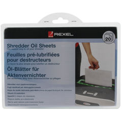 View more details about Rexel A5 Shredder Non-Auto Oil Sheets, Pack of 20 - 2101949