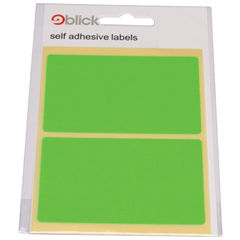 View more details about Blick Green Fluorescent Labels in Bags 50x80mm (Pack of 160) RS010654