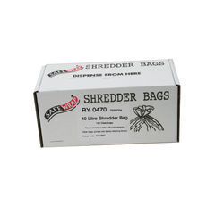 View more details about Safewrap Shredder Bag 40 Litre (Pack of 100) RY0470